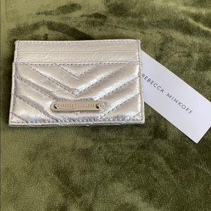 Rebecca minkoff Edie silver card case
